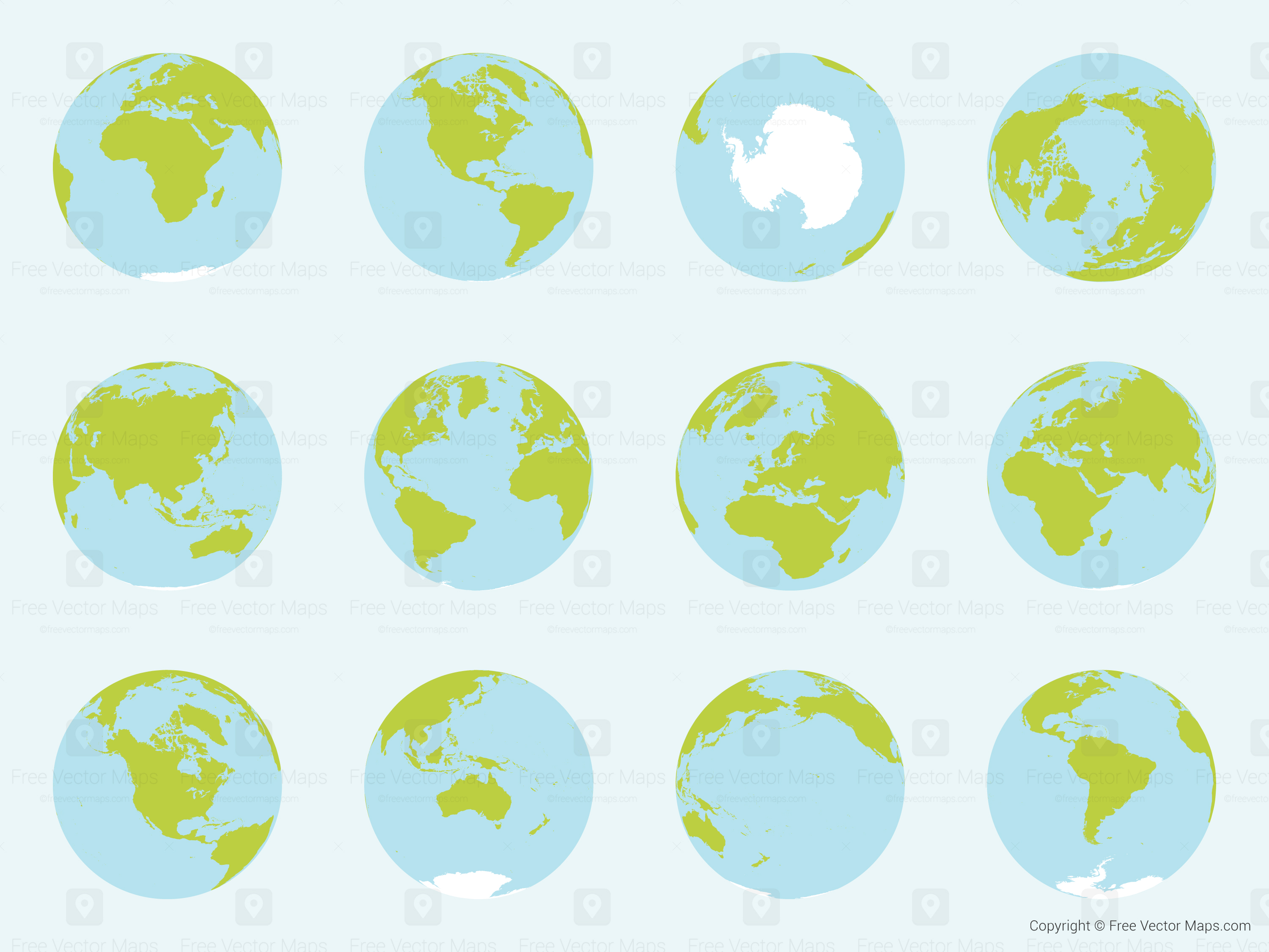 Vector map of world globes complete set free vector maps vector map of world globes complete set 10586 orthographic 184 mb vector premium 6 feb 2014 hi res comp gumiabroncs Gallery